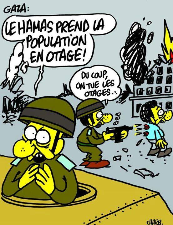 Charb - Hamas population gaza otage